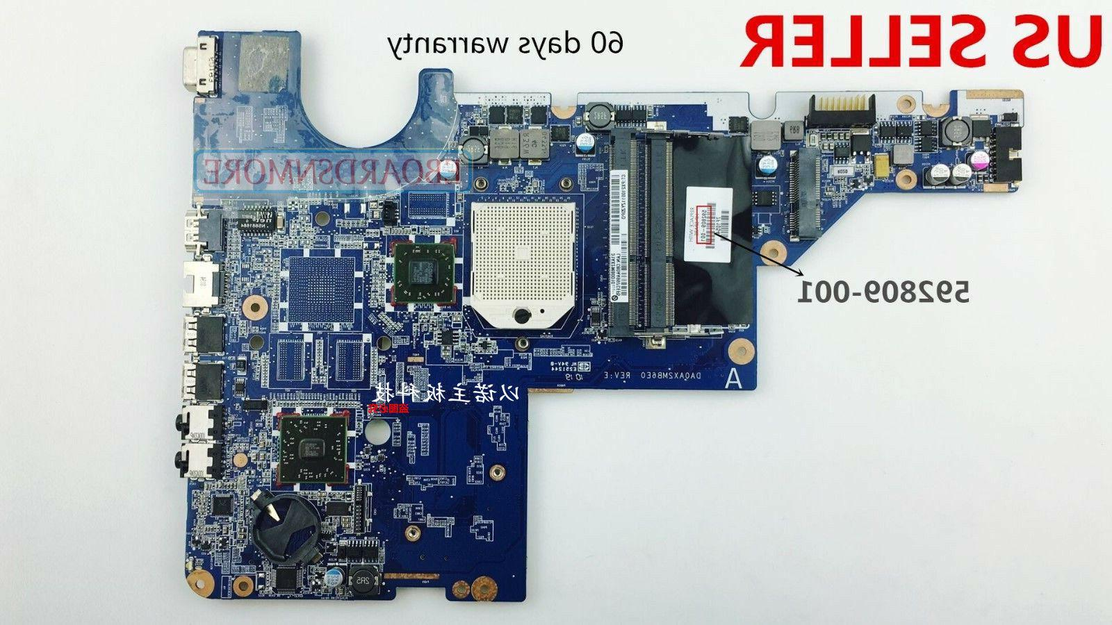 592809-001 Motherboard for CQ42 AMD Laptop, Loc A